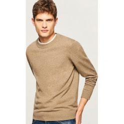 Gładki sweter - Beżowy. Brązowe swetry klasyczne męskie marki Reserved, l. Za 79,99 zł.