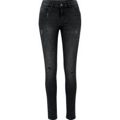 Urban Classics Ladies Ripped Denim Pants Jeansy damskie czarny. Czarne boyfriendy damskie Urban Classics, z denimu. Za 121,90 zł.