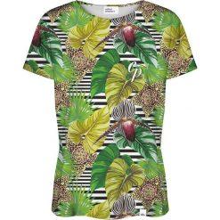 Colour Pleasure Koszulka damska CP-030 271 zielona r. XL/XXL. Zielone bluzki damskie marki Colour pleasure, xl. Za 70,35 zł.