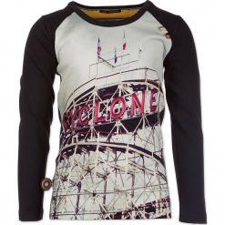 """Koszulka """"Roller Coaster"""" w kolorze granatowym ze wzorem. Niebieskie t-shirty chłopięce z długim rękawem marki 4FunkyFlavours Kids, z nadrukiem. W wyprzedaży za 92,95 zł."""