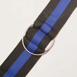 Paski damskie: Materiałowy pasek - Niebieski