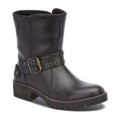 Skórzane kozaki w kolorze brązowym. Szare buty zimowe damskie marki Marco Tozzi. W wyprzedaży za 289,95 zł.