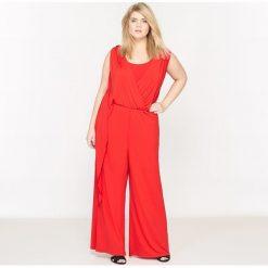 Kombinezony damskie: Kombinezon z długimi spodniami, bez rękawów, z lejącej tkaniny