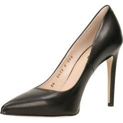 Czółenka INGRID. Czarne buty ślubne damskie Gino Rossi, ze skóry, na wysokim obcasie, na obcasie. Za 299,90 zł.