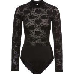 Body wyszczuplające bonprix czarny. Czarne bluzki body bonprix, w koronkowe wzory, z koronki. Za 54,99 zł.