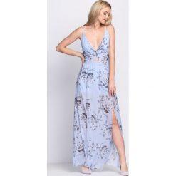 Niebieska Sukienka Marble. Niebieskie sukienki koktajlowe marki Born2be, na lato, s. Za 109,99 zł.