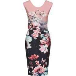 Sukienki: Sukienka w kwiaty bonprix różowo-czarno-lila w kwiaty