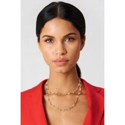 Naszyjniki damskie: NA-KD Accessories Cieniutki naszyjnik Clover – Gold
