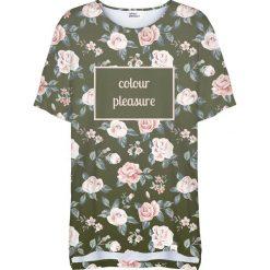 Colour Pleasure Koszulka damska CP-033 266 zielono-różowa r. uniwersalny. Fioletowe bluzki damskie marki Colour pleasure, uniwersalny. Za 76,57 zł.