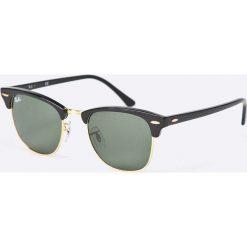 Ray-Ban - Okulary Clubmaster. Szare okulary przeciwsłoneczne męskie wayfarery marki Ray-Ban, z materiału. Za 519,90 zł.