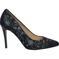 Czółenka - 3900 PRC23 BL. Czarne buty ślubne damskie Venezia, ze skóry. Za 319,00 zł.