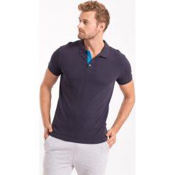 Koszulka polo męska TSM051AZ - GRANATOWY - 4F. Niebieskie koszulki polo 4f, na jesień, m, z bawełny. Za 69,99 zł.