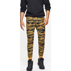 Odzież męska: Dresowe joggery camo - Brązowy