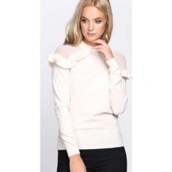 Swetry klasyczne damskie: Kremowy Sweter Hold On Hope