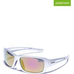 Okulary przeciwsłoneczne męskie lustrzane: Okulary męskie w kolorze srebrno-pomarańczowo-zielonym