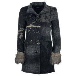Desigual Płaszcz Damski Charlotte 44 Ciemnoszary. Czarne płaszcze damskie pastelowe Desigual. W wyprzedaży za 649,00 zł.