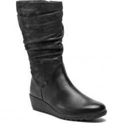 Kozaki CAPRICE - 9-25407-21 Blk Pearl Comb 025. Czarne buty zimowe damskie Caprice, z nubiku, na obcasie. W wyprzedaży za 259,00 zł.