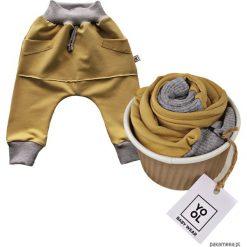 Odzież dziecięca: Spodnie baggy kangurek musztarda