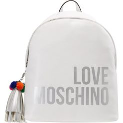 Plecaki damskie: Love Moschino POM POM BACKPACK Plecak bianco