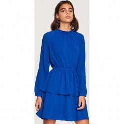 Sukienka z rozkloszowanym dołem - Niebieski. Niebieskie sukienki rozkloszowane marki Reserved. Za 119,99 zł.