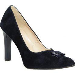 Czółenka z kokardą na słupku Casu 1659. Czerwone buty ślubne damskie marki Casu, na słupku. Za 99,99 zł.