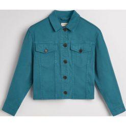 Jeansowa kurtka - Niebieski. Niebieskie kurtki damskie jeansowe Reserved. Za 139,99 zł.
