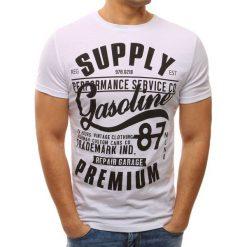 T-shirty męskie z nadrukiem: T-shirt męski z nadrukiem biały (rx2652)