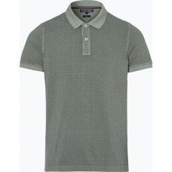 Tommy Hilfiger - Męska koszulka polo, zielony. Szare koszulki polo marki TOMMY HILFIGER, z bawełny. Za 199,95 zł.