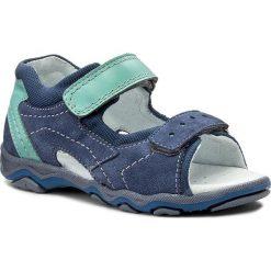 Sandały MIDO - 329 Niebieski/Mięta. Niebieskie sandały męskie skórzane Mido. Za 139,00 zł.