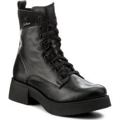Botki LASOCKI - ATA-02 Czarny. Czarne buty zimowe damskie Lasocki, z nubiku, na obcasie. Za 279,99 zł.