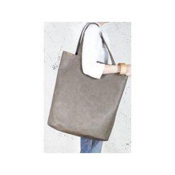 Mega Shopper bag brązowa torba oversize Vegan. Brązowe shopper bag damskie Hairoo, w paski. Za 170,00 zł.