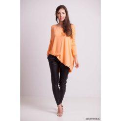 Bluzki damskie: Bluzka luźna pomarańczowa