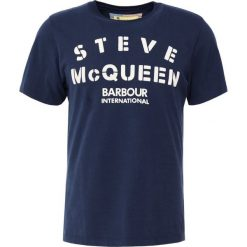 T-shirty męskie z nadrukiem: Barbour International™ STENCIL TEE Tshirt z nadrukiem navy