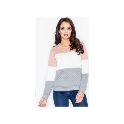 Bluza M426 Szary. Szare długie bluzy damskie marki FIGL, m, z bawełny, eleganckie, z asymetrycznym kołnierzem, z długim rękawem. Za 99,00 zł.