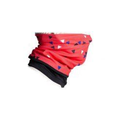 Komin na szyję na rower ROADRACING 500 zimowy. Czerwone szaliki damskie B'TWIN, na zimę, z elastanu. Za 24,99 zł.