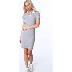 Sukienka polo jasnoszara 3810. Szare sukienki marki Fasardi, l, polo. Za 69,00 zł.