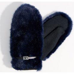 Puszyste rękawiczki z jednym palcem - Niebieski. Brązowe rękawiczki damskie marki Roeckl. Za 59,99 zł.