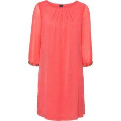 Sukienki: Sukienka szyfonowa bonprix lekki koralowy