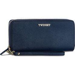 Duży Portfel Damski TWINSET - Zip Around OA7TKC Blue Bla 00894. Niebieskie portfele damskie Twinset, ze skóry. W wyprzedaży za 419,00 zł.
