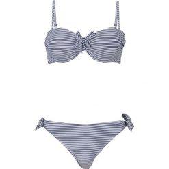 Stroje kąpielowe damskie: Bikini na fiszbinach bonprix ciemnoniebiesko-biały w paski