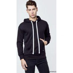 Bejsbolówki męskie: Bluza bawełniana z kapturem Basic Black