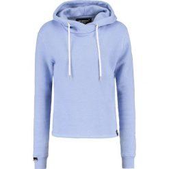 Bluzy damskie: Superdry Bluza z kapturem soft blue marl