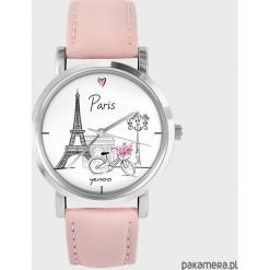 Zegarki damskie: Zegarek – Paryż – pudrowy róż