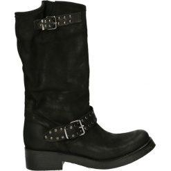 Kozaki - D23 NAB NERO. Czarne buty zimowe damskie Venezia, z nubiku. Za 459,00 zł.