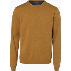 Finshley & Harding - Sweter męski – Pima-Cotton/Kaszmir, złoty. Czarne swetry klasyczne męskie marki Finshley & Harding, w kratkę. Za 229,95 zł.