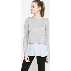 Only - Sweter New Oxford. Szare swetry klasyczne damskie marki ONLY, s, z bawełny, z okrągłym kołnierzem. Za 129,90 zł.