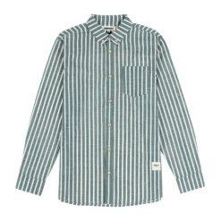 Koszule męskie na spinki: Wemoto Koszula męska Manison Olive szara r. L (321-5)