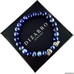 Bransoletka Męska BLUE LAPIS. Niebieskie bransoletki męskie Pakamera, z kryształem, złote. Za 190,00 zł.