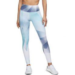 Spodnie sportowe damskie: Under Armour Spodnie damskie Breathelux Print Legging biało-niebieskie r. L  (1305444-716)