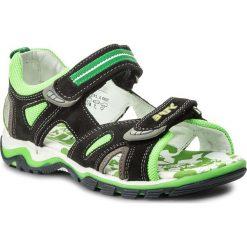 Sandały BARTEK - 019176-1-0KR II Czarno Zielony. Czarne sandały chłopięce Bartek, z materiału. W wyprzedaży za 159,00 zł.